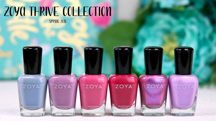 Zoya Thrive collection: 6-piece Spring collection