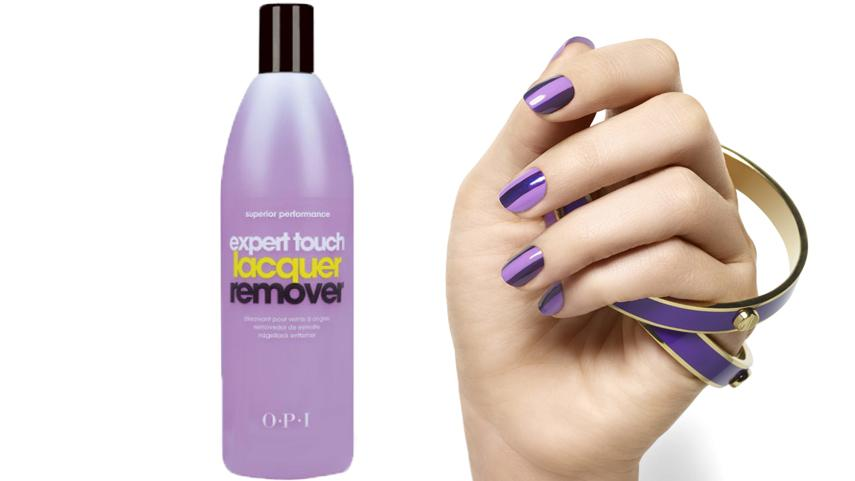 How to use OPI Expert Touch lacquer remover